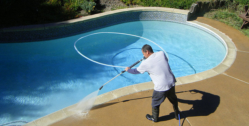 Pressure wash pure water technology of north texas for Pressure clean pools